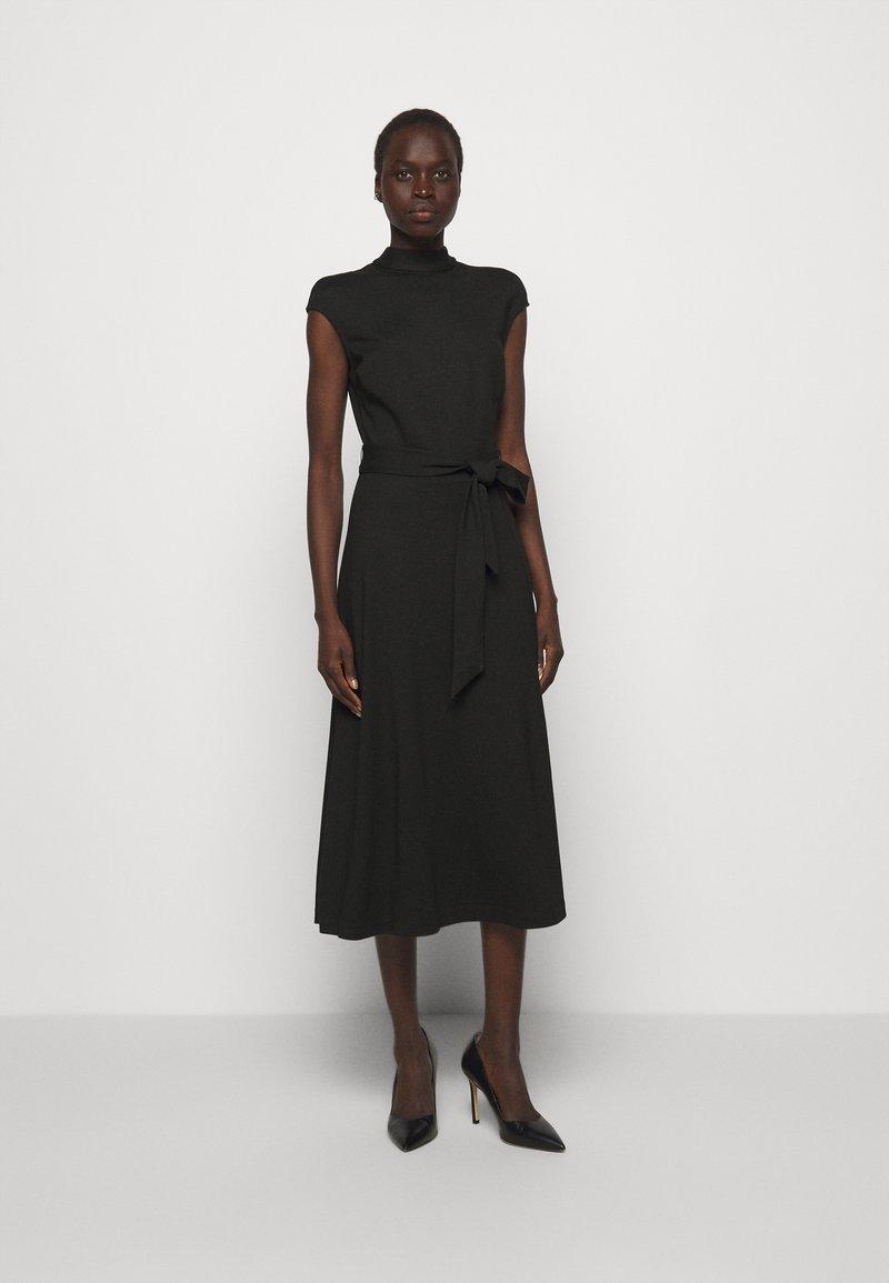 HUGO - DRESSELLA - Žerzejové šaty - black