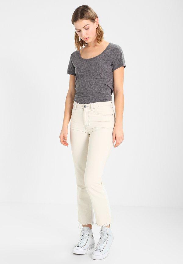 Tommy Jeans T-shirt z nadrukiem - black Melanż Odzież Damska CIOI QK 9