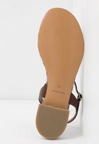 Emporio Armani - T-bar sandals - testa di moro/ecru - 4