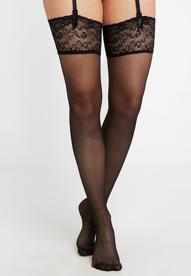 SEIDENGLATT 15 DEN - Over-the-knee socks - black