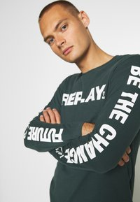 Replay - Long sleeved top - bottle green - 4
