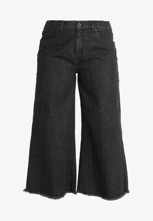 LADIES CULOTTE - Flared Jeans - black washed