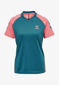 Hummel - ACTION  - T-shirt print - blue coral/tea rose - 0
