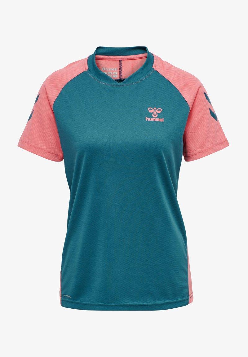 Hummel - ACTION  - T-shirt print - blue coral/tea rose