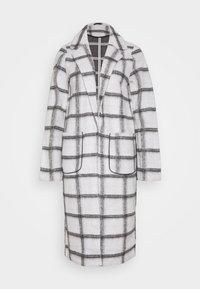 Vila - VIAMELINA COATIGAN - Classic coat - white alyssum/black - 0