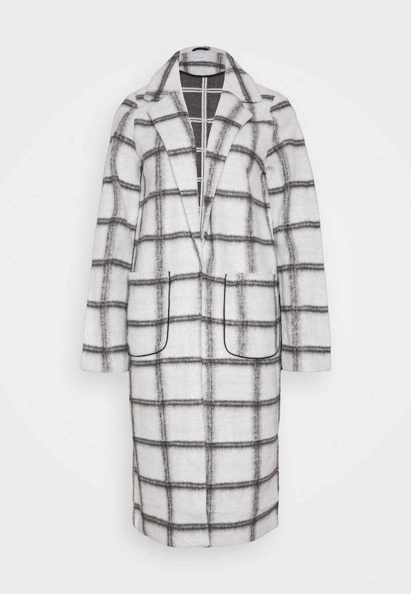Vila - VIAMELINA COATIGAN - Classic coat - white alyssum/black