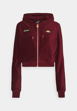 JUSTIA - veste en sweat zippée - burgundy