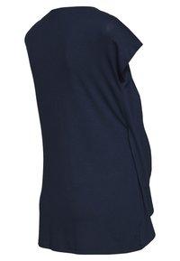Anna Field MAMA - BASIC NURSING TOP - T-Shirt print - white/dark blue - 1