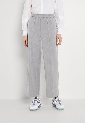 OBJMIAH PANTS - Trousers - silver gray