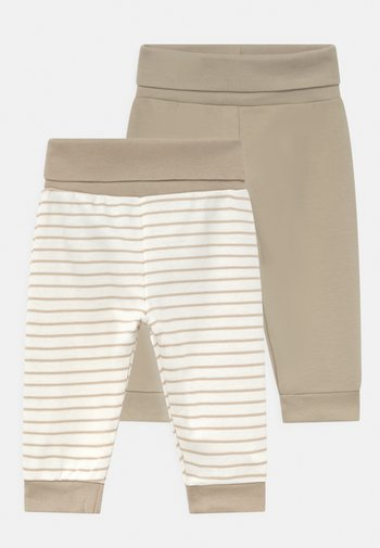 2 PACK UNISEX - Trousers - off-white