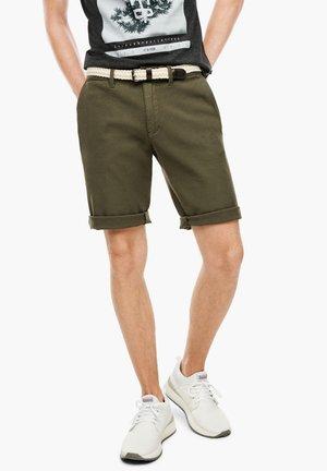 Shorts - khaki dobby