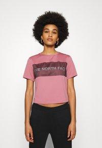 The North Face - Camiseta estampada - mesa rose - 0