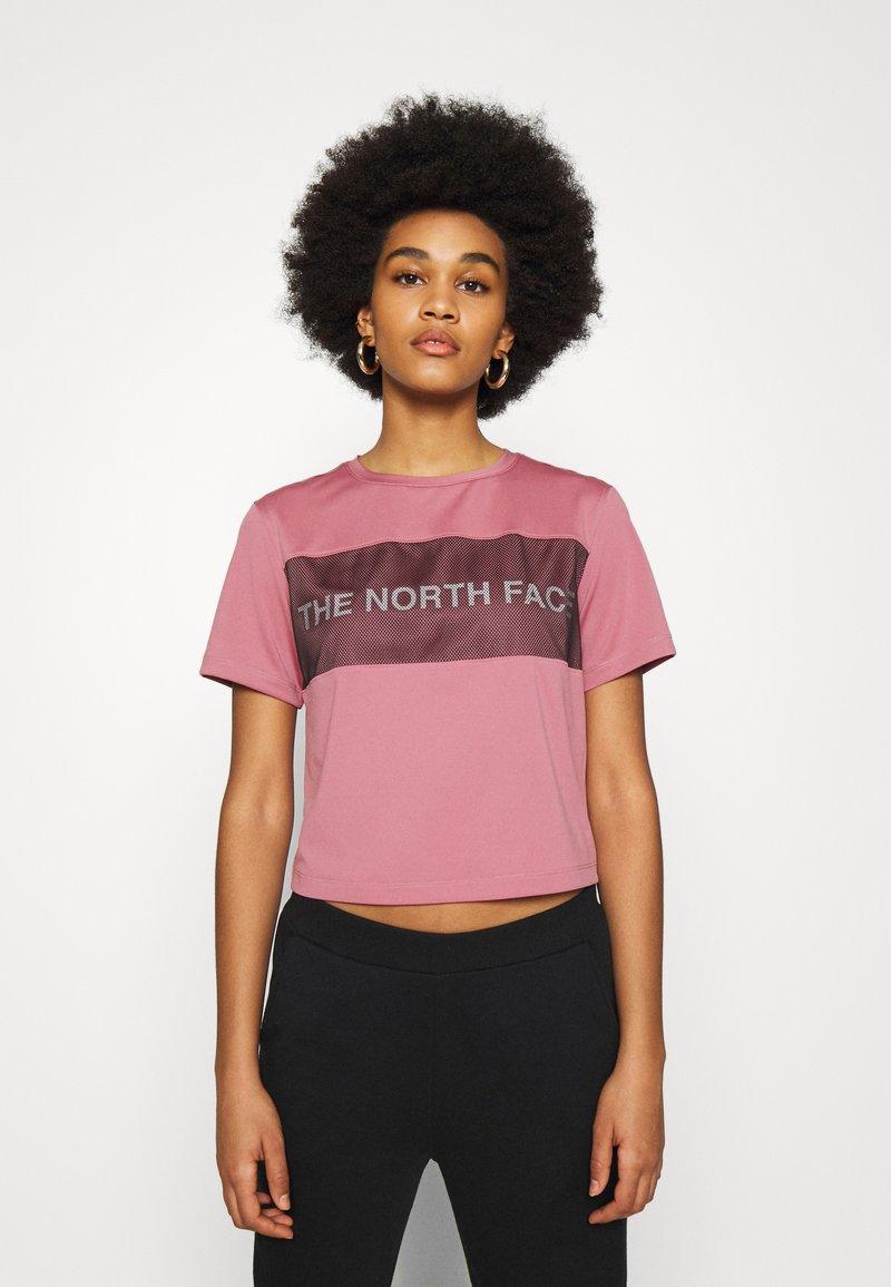 The North Face - Camiseta estampada - mesa rose