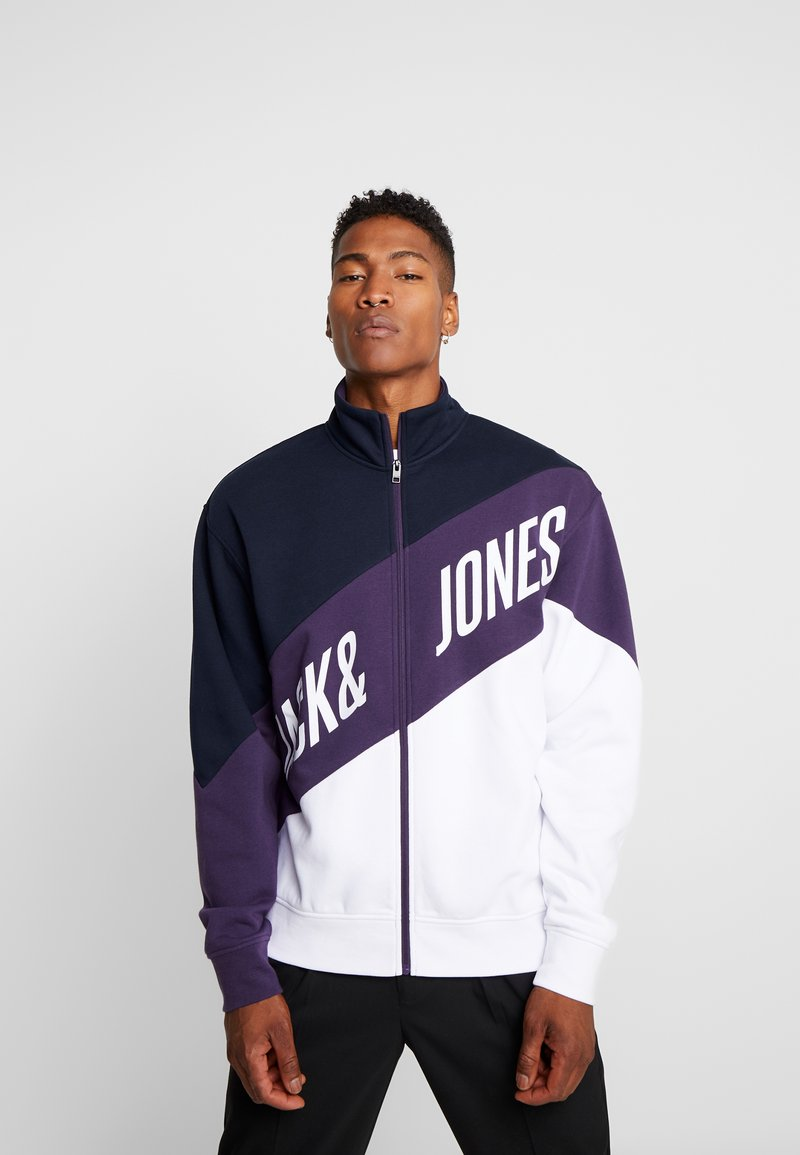 Jack & Jones - JCOHILL ZIP HIGH NECK - Sweatjacke - sky captain