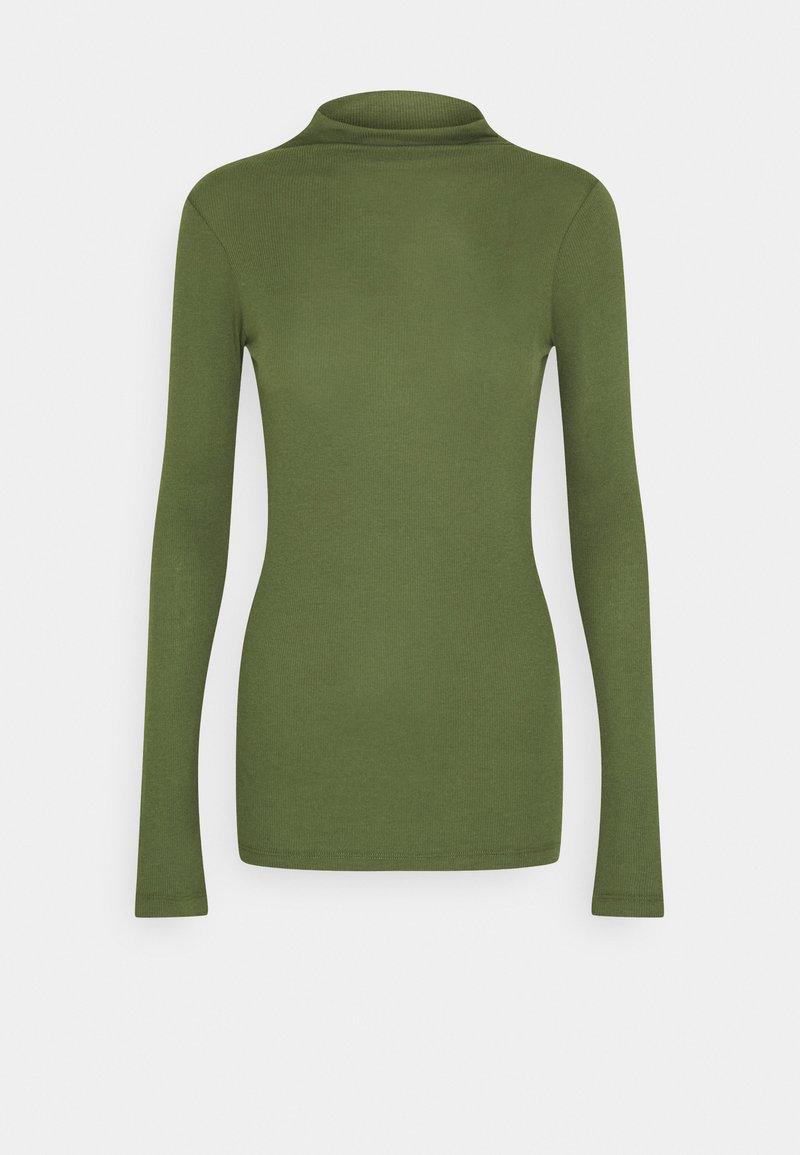 Marc O'Polo DENIM - LONGSLEEVE TURTLENECK - Long sleeved top - utility olive