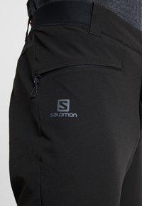 Salomon - WAYFARER ALPINE PANT - Stoffhose - black - 3