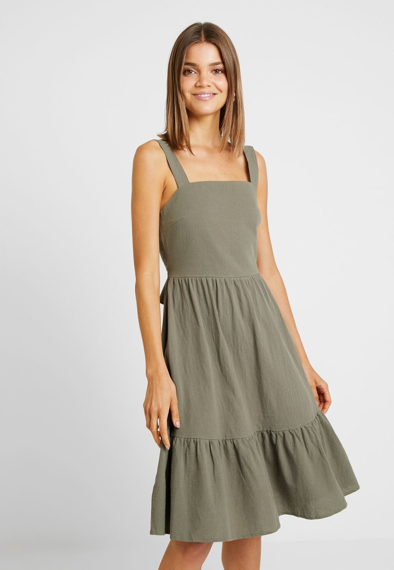 YAS - YASLINE STRAP DRESS - Day dress - botanical garden
