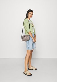 Monki - PUFFY CARDIGAN - Cardigan - green dusty light - 1