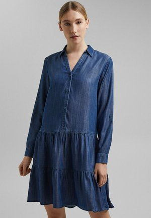 Denim dress - blue dark washed