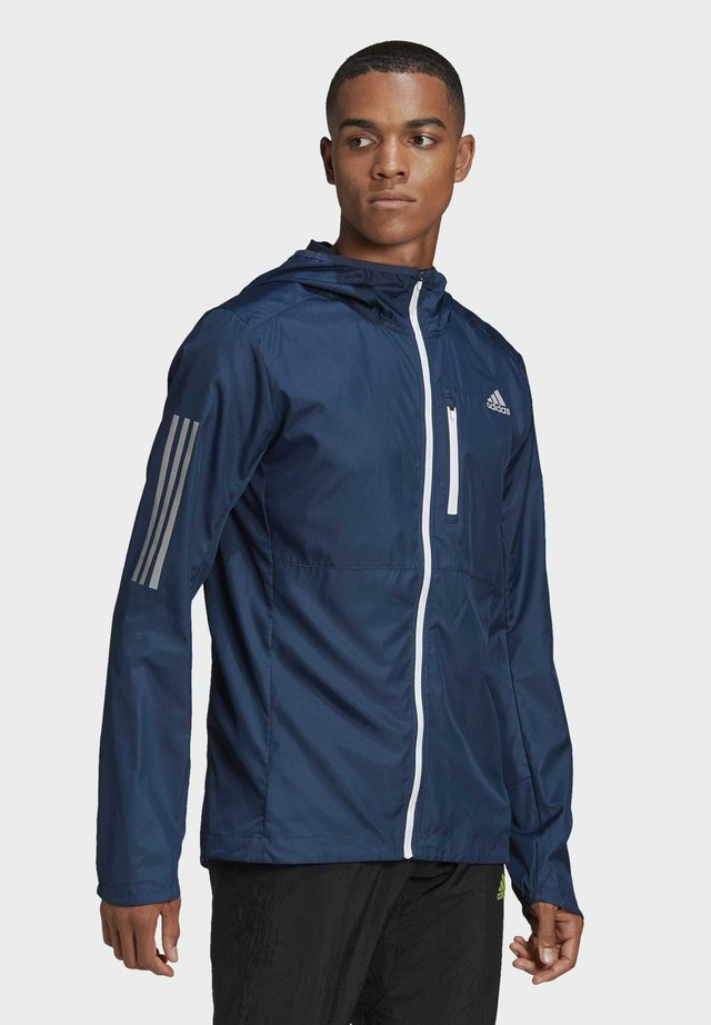 OWN THE RUN HOODED WINDBREAKER - Træningsjakker - blue