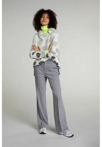 Oui - Trousers - grey melange - 1