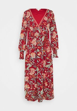 MIDI TEJA FLORAL - Day dress - multicoloured/red