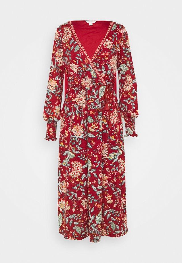 MIDI TEJA FLORAL - Korte jurk - multicoloured/red
