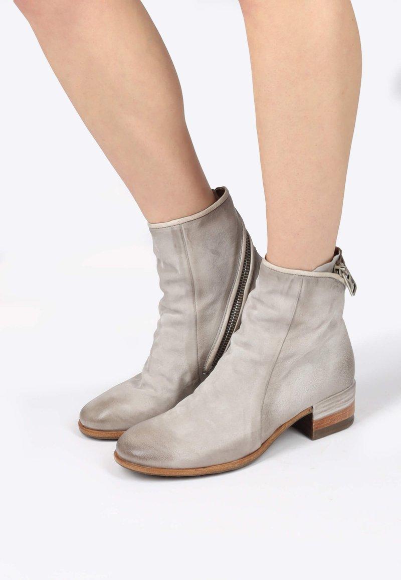 A.S.98 - Cowboy/biker ankle boot - grigio
