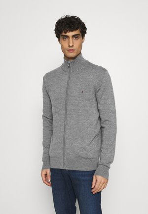 LUXURY ZIP THROUGH - Cardigan - grey