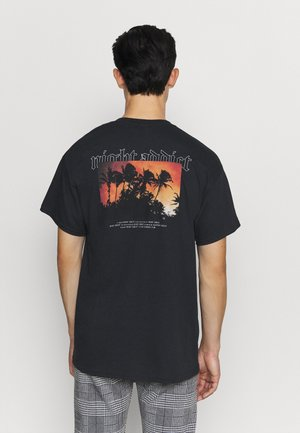 BURN - T-shirt con stampa - black