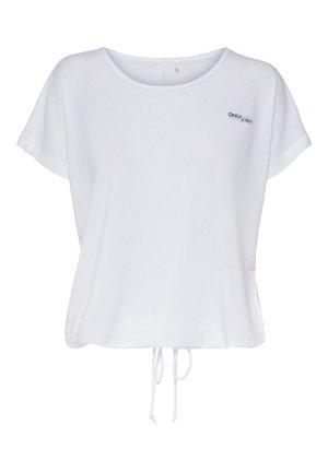 ONPADELIA TEE - Print T-shirt - white