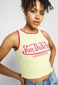 Von Dutch - ASHLEY RACER CROPPED - Top - yellow - 3