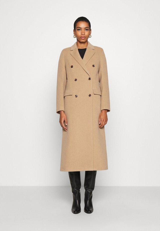 COAT - Classic coat - dull gold