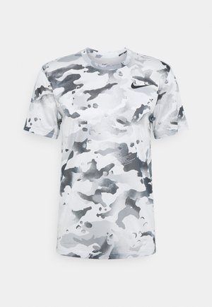 DRY TEE - Camiseta estampada - photon dust/dark smoke grey
