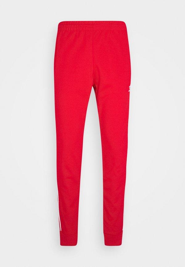adidas Originals UNISEX - Spodnie treningowe - scarle/white/czerwony Odzież Męska BGDI