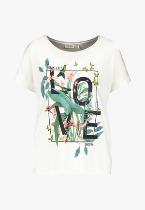 LET LOVE GROW - Print T-shirt - off-white
