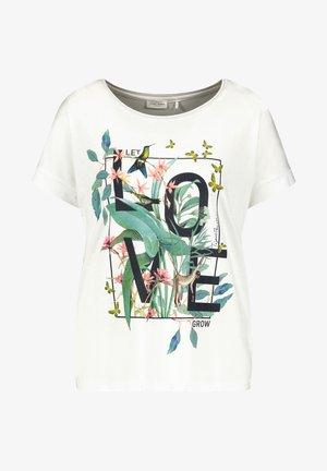 LET LOVE GROW - Print T-shirt - off-white