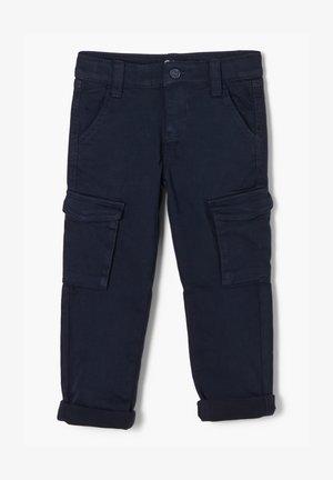 MIT CARGOTASCHEN - Cargo trousers - dark blue