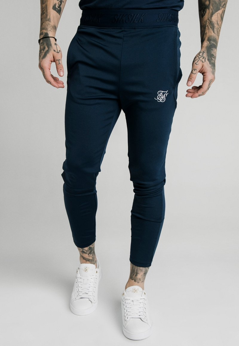 SIKSILK - AGILITY TRACK PANTS - Tracksuit bottoms - navy