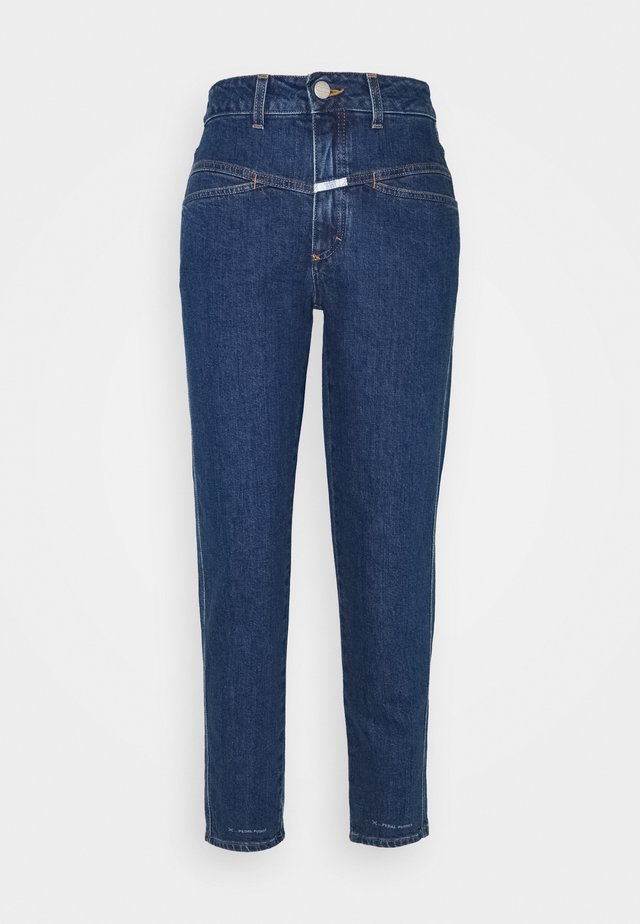 PEDAL PUSHER - Straight leg jeans - dark blue
