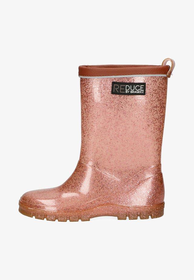 Regenlaarzen - pink glitter
