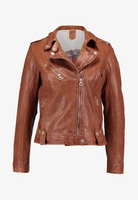 Gipsy - FAMOS - Leather jacket - cognac - 5