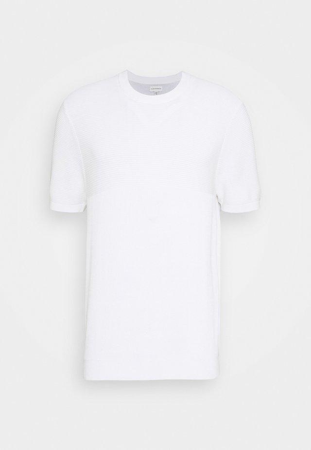 BLOCK STITCH CREW - T-shirt imprimé - blanc de blanc