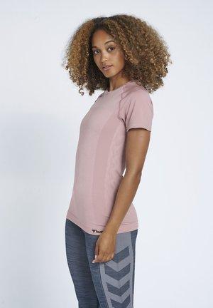 Print T-shirt - woodrose