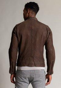 Autark - Leather jacket - dunkelbraun - 2