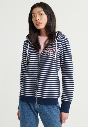 APPLIQUE SERIF  - Zip-up hoodie - navy stripe