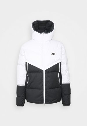 Down jacket - white/dark smoke grey/black