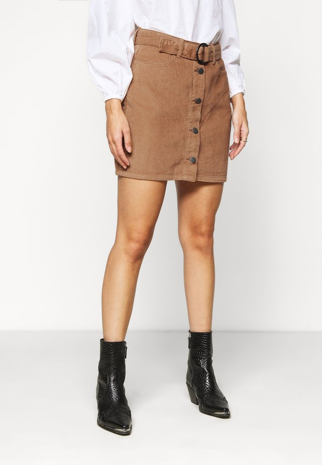 OBJOLIVIA CORDUROY SKIRT PET - A-line skirt - chipmunk
