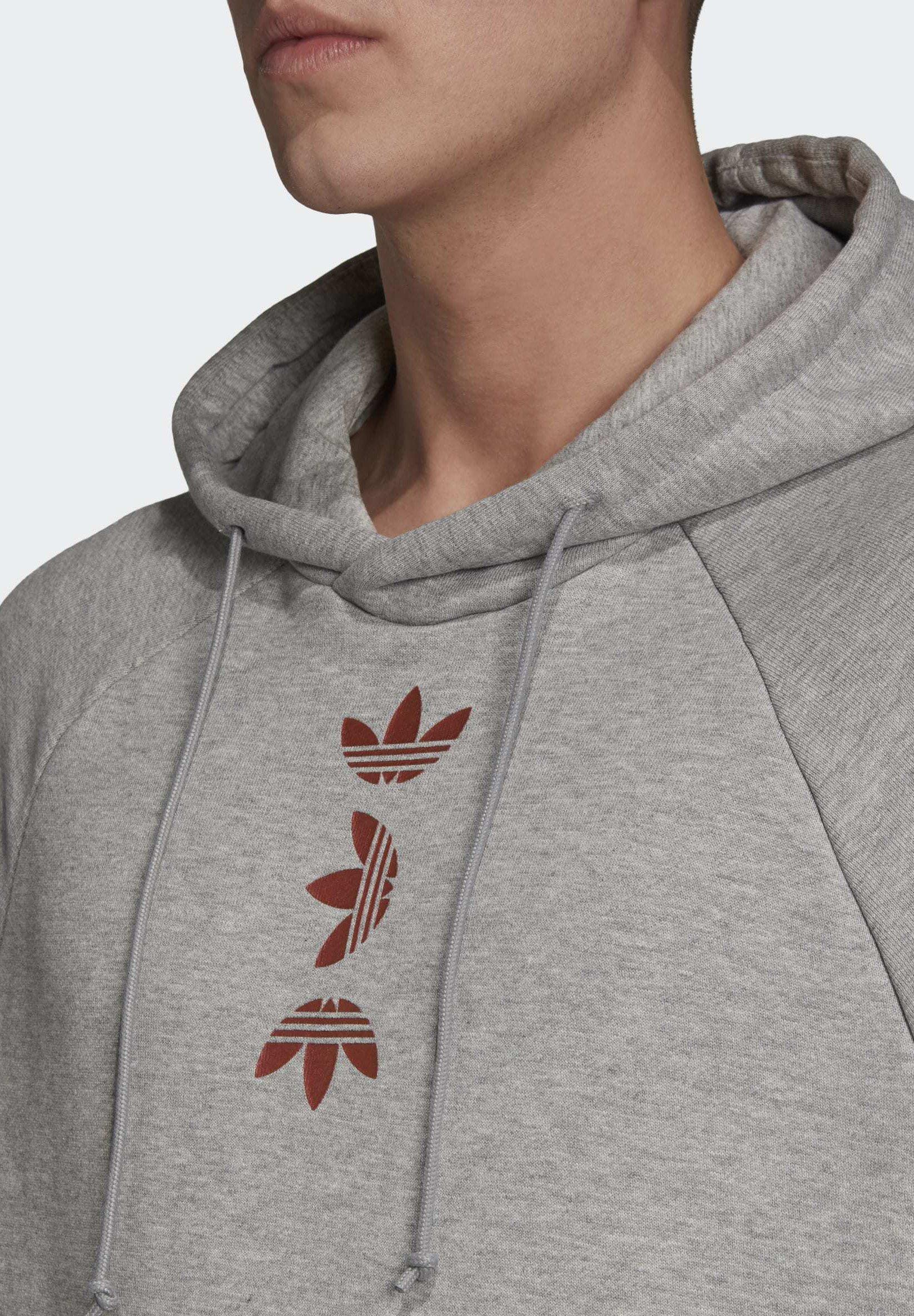 adidas Originals BIG TREFOIL HOODIE Hoodie grey Zalando.nl