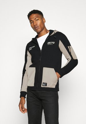 RODNEY SWEAT - veste en sweat zippée - black